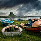 Boats at Lindisfarne by Brian Tarr