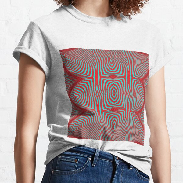 Psychogenic, hypnotic, hallucinogenic, black and white, psychedelic, hallucinative, mind-bending, psychoactive pattern Classic T-Shirt