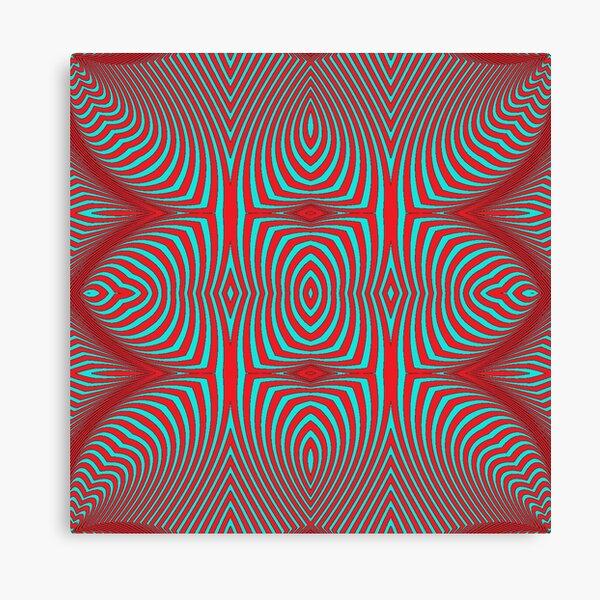 Psychogenic, hypnotic, hallucinogenic, black and white, psychedelic, hallucinative, mind-bending, psychoactive pattern Canvas Print