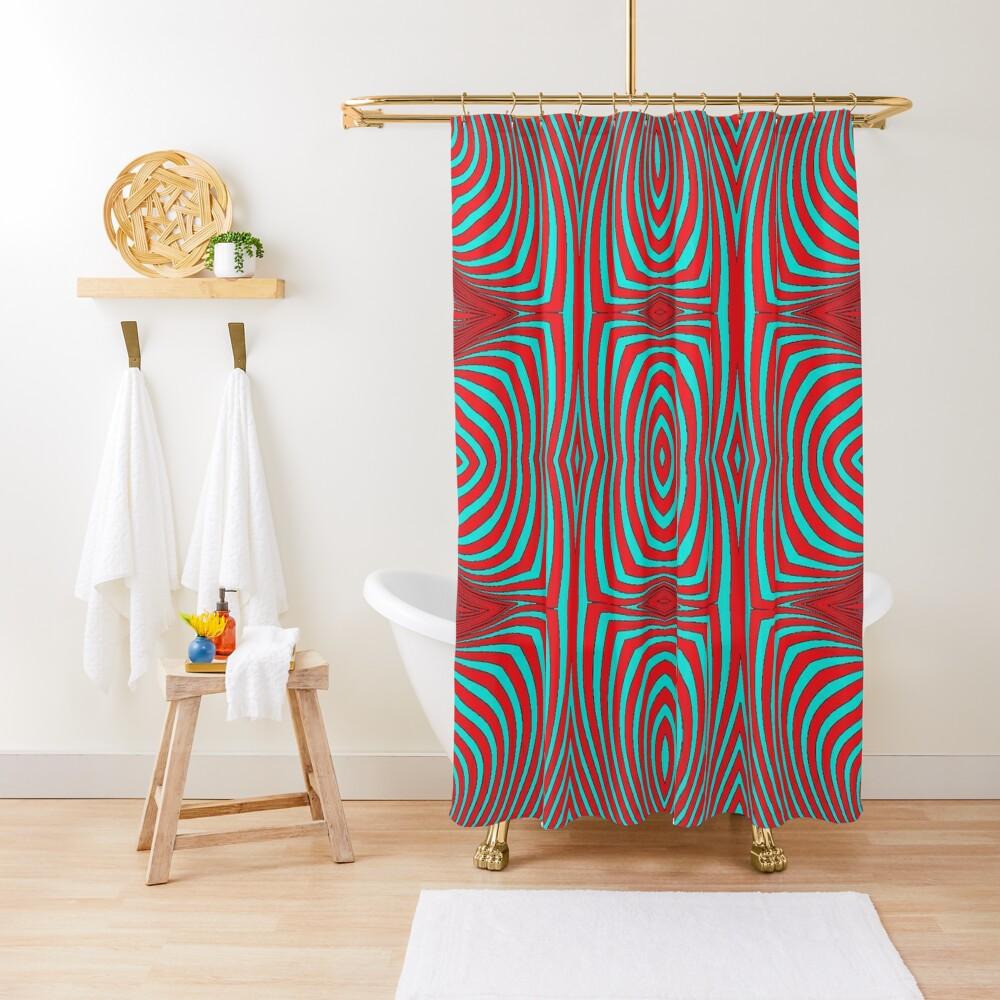 Psychogenic, hypnotic, hallucinogenic, black and white, psychedelic, hallucinative, mind-bending, psychoactive pattern Shower Curtain