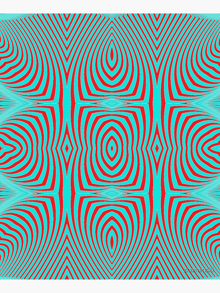 Psychogenic, hypnotic, hallucinogenic, black and white, psychedelic, hallucinative, mind-bending, psychoactive pattern by znamenski