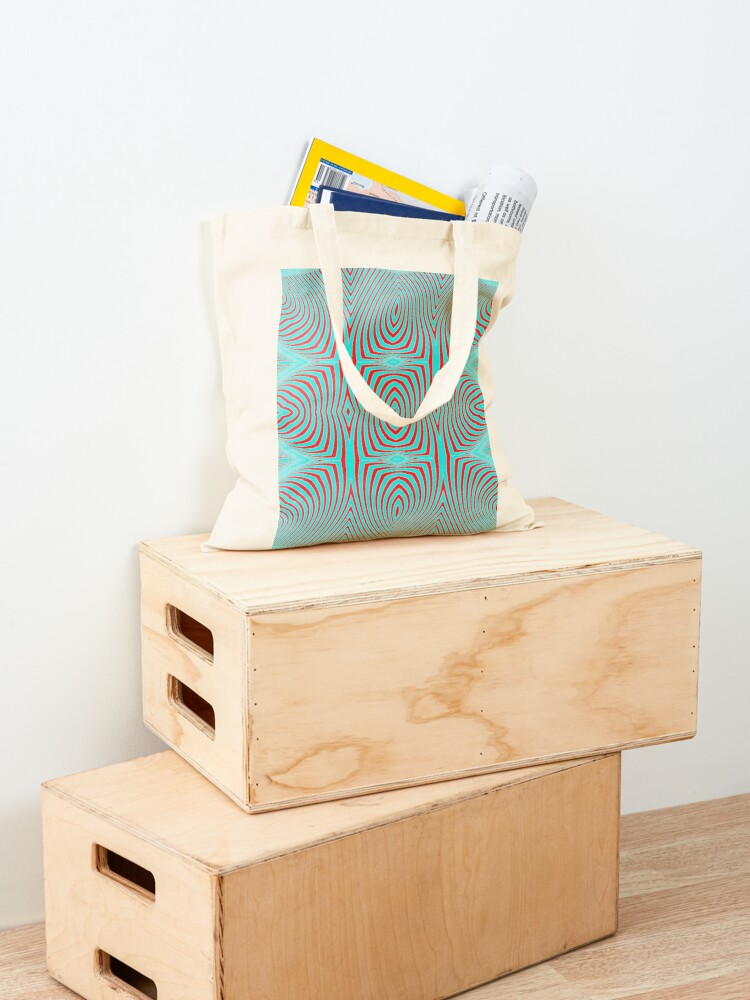Alternate view of Psychogenic, hypnotic, hallucinogenic, black and white, psychedelic, hallucinative, mind-bending, psychoactive pattern Tote Bag
