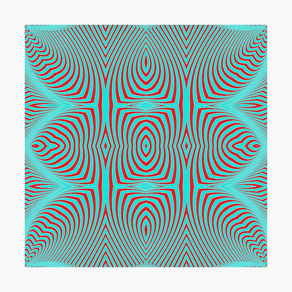 Psychogenic, hypnotic, hallucinogenic, black and white, psychedelic, hallucinative, mind-bending, psychoactive pattern Photographic Print