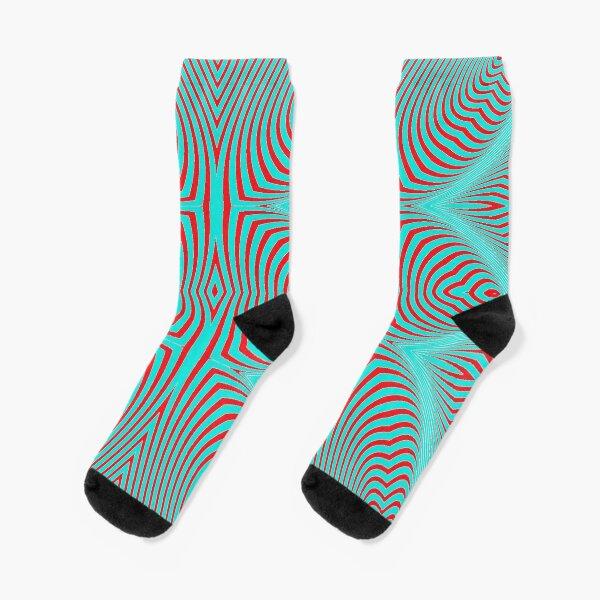 Psychogenic, hypnotic, hallucinogenic, black and white, psychedelic, hallucinative, mind-bending, psychoactive pattern Socks