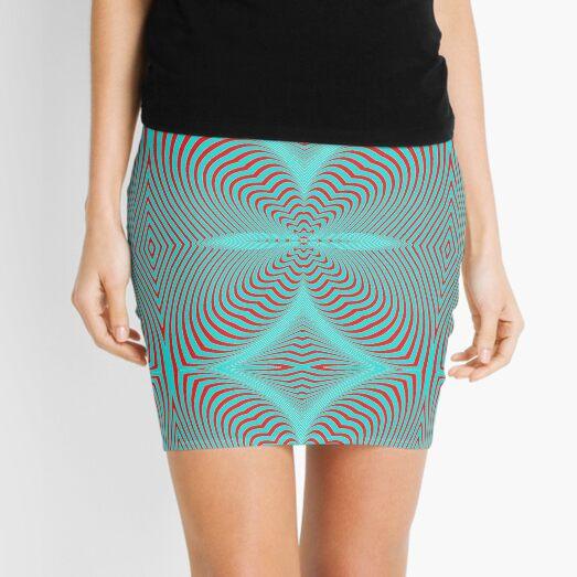 Psychogenic, hypnotic, hallucinogenic, black and white, psychedelic, hallucinative, mind-bending, psychoactive pattern Mini Skirt