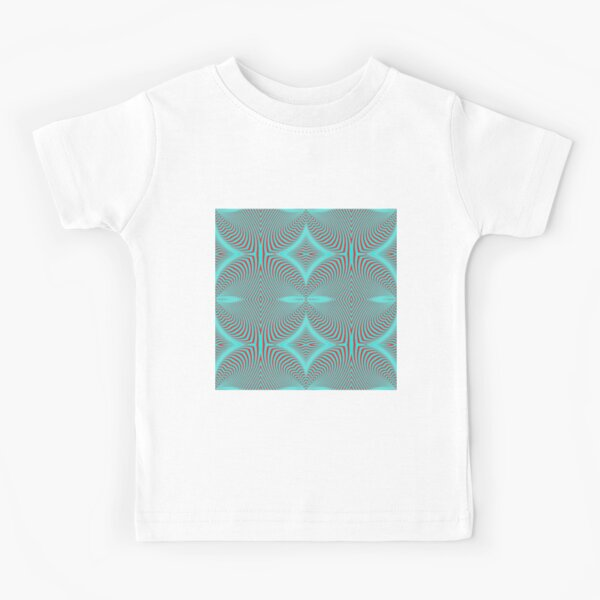 Psychogenic, hypnotic, hallucinogenic, black and white, psychedelic, hallucinative, mind-bending, psychoactive pattern Kids T-Shirt