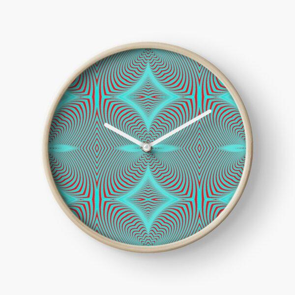 Psychogenic, hypnotic, hallucinogenic, black and white, psychedelic, hallucinative, mind-bending, psychoactive pattern Clock
