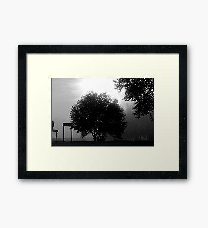 A melancholic landscape: Photo by  Brown Sugar. Views (22) tvm! Framed Print