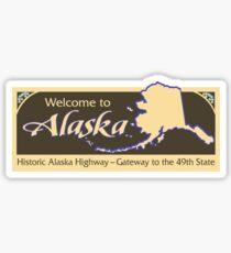 Welcome to Alaska, Road Sign, USA  Sticker