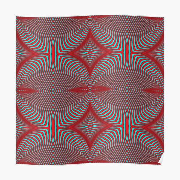 Psychogenic, hypnotic, hallucinogenic, black and white, psychedelic, hallucinative, mind-bending, psychoactive pattern Poster