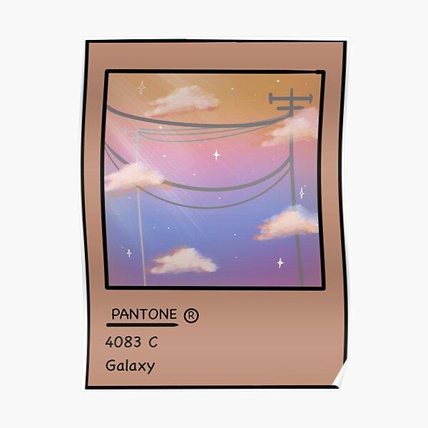 Pantone clouds  Poster