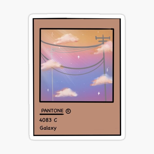 Pantone clouds  Sticker