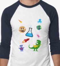I Love Science Men's Baseball ¾ T-Shirt