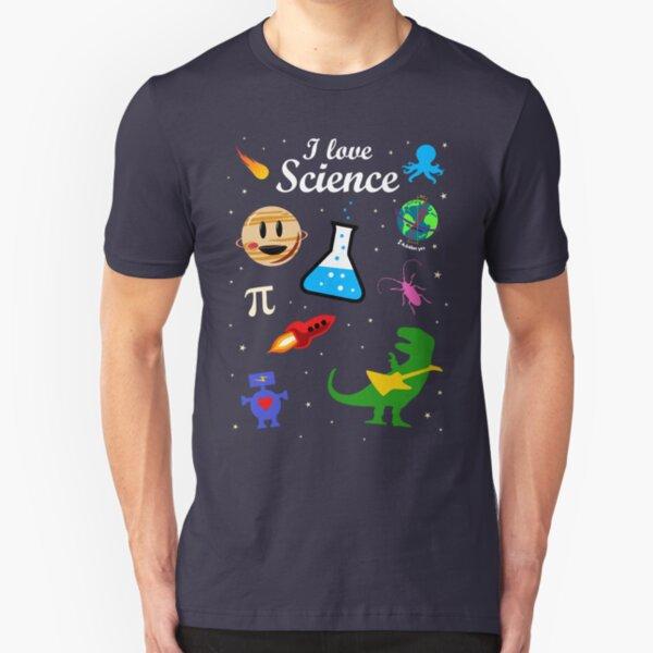 I Love Science Slim Fit T-Shirt