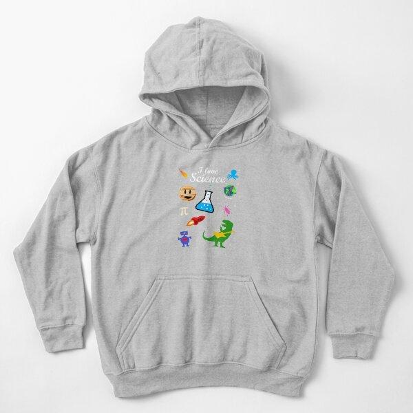 I Love Science Kids Pullover Hoodie