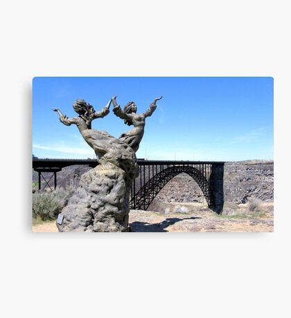 The I.B. Perrine Bridge-Twins-Twin Falls, Idaho; USA Canvas Print