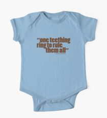 'one teething ring...' One Piece - Short Sleeve