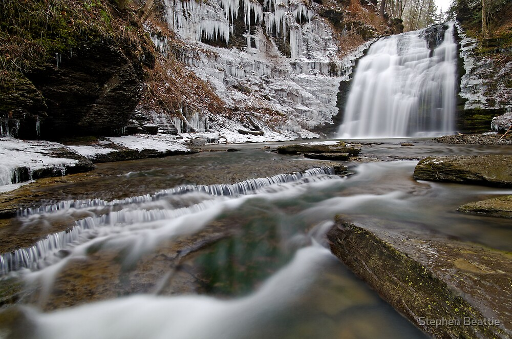 Rexford Falls - December - 2011 by Stephen Beattie