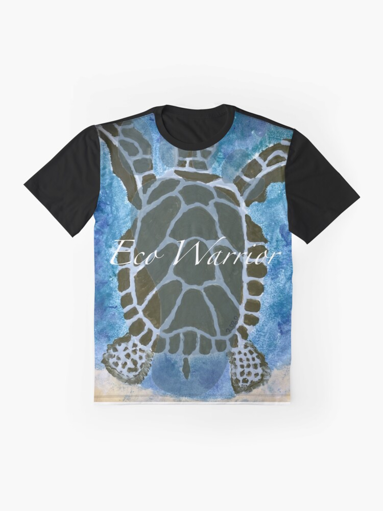 Alternate view of Eco Warrior - Save the turtles Graphic T-Shirt