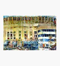 Yankee Stadium, Bronx, New York Art Watercolor Print Photographic Print