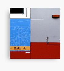 Primary Colors: Urban Bus Abstract Canvas Print