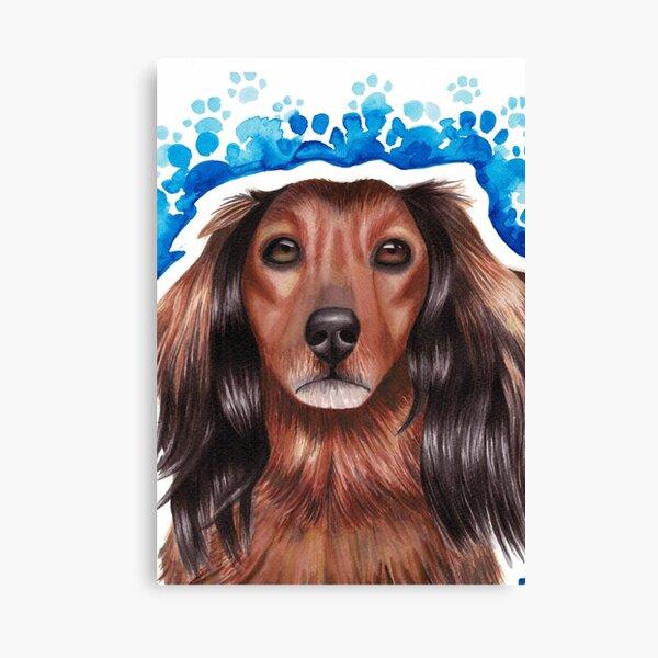 Watercolor dog Canvas Print