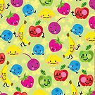 fun 'n fruity kawaii pattern for iPhone by jillhowarth