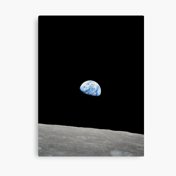 Earthrise from Apollo 8 Canvas Print