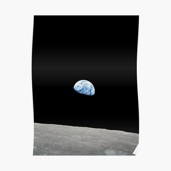 Earthrise from Apollo 8 Poster