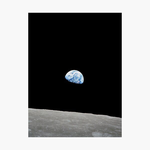 Earthrise from Apollo 8 Photographic Print