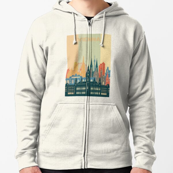 vienna skyline Zipped Hoodie