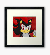 Shadow Hedgehog Framed Print
