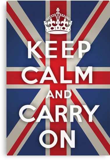 Keep Calm and Carry On (Union Jack Background) by Jeff Vorzimmer