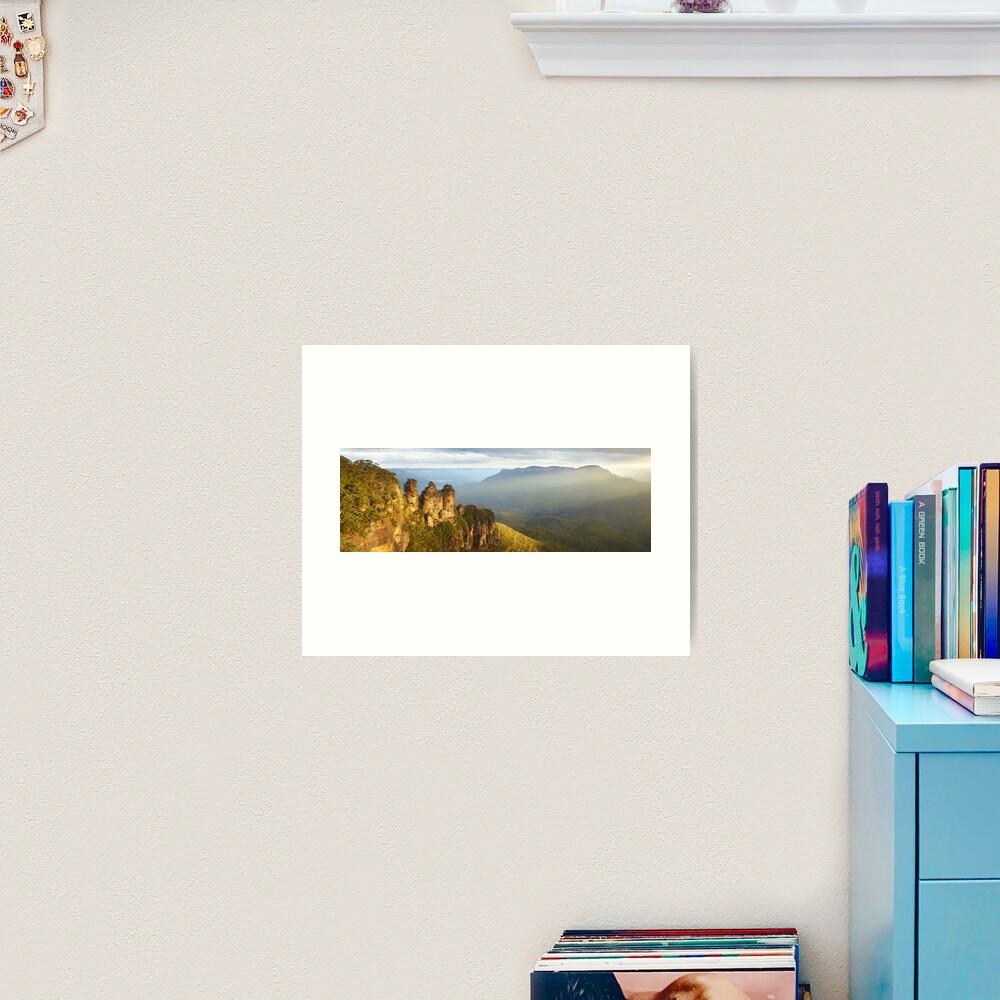 Three Sisters Sunset, Blue Mountains, NSW, Australia Art Print