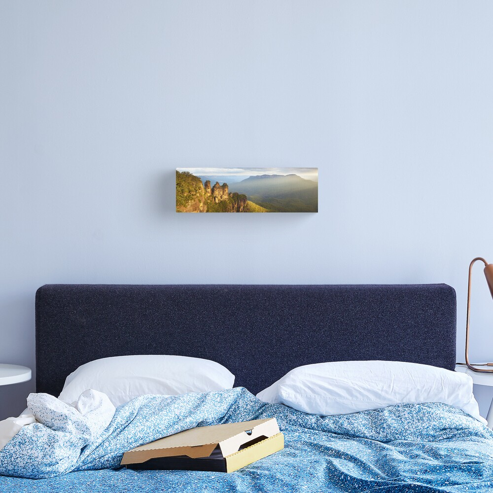 Three Sisters Sunset, Blue Mountains, NSW, Australia Canvas Print