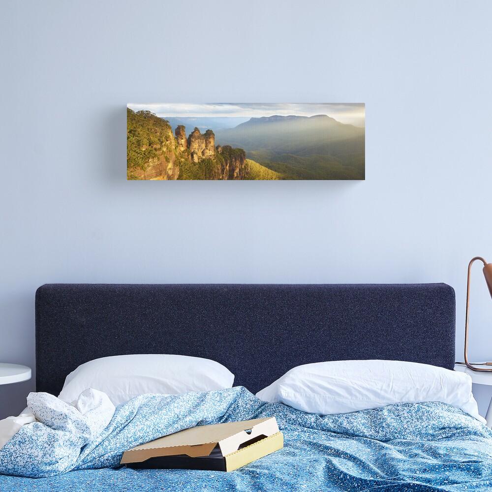 Three Sisters Sunset, Blue Mountains, NSW, Australia Canvas Print