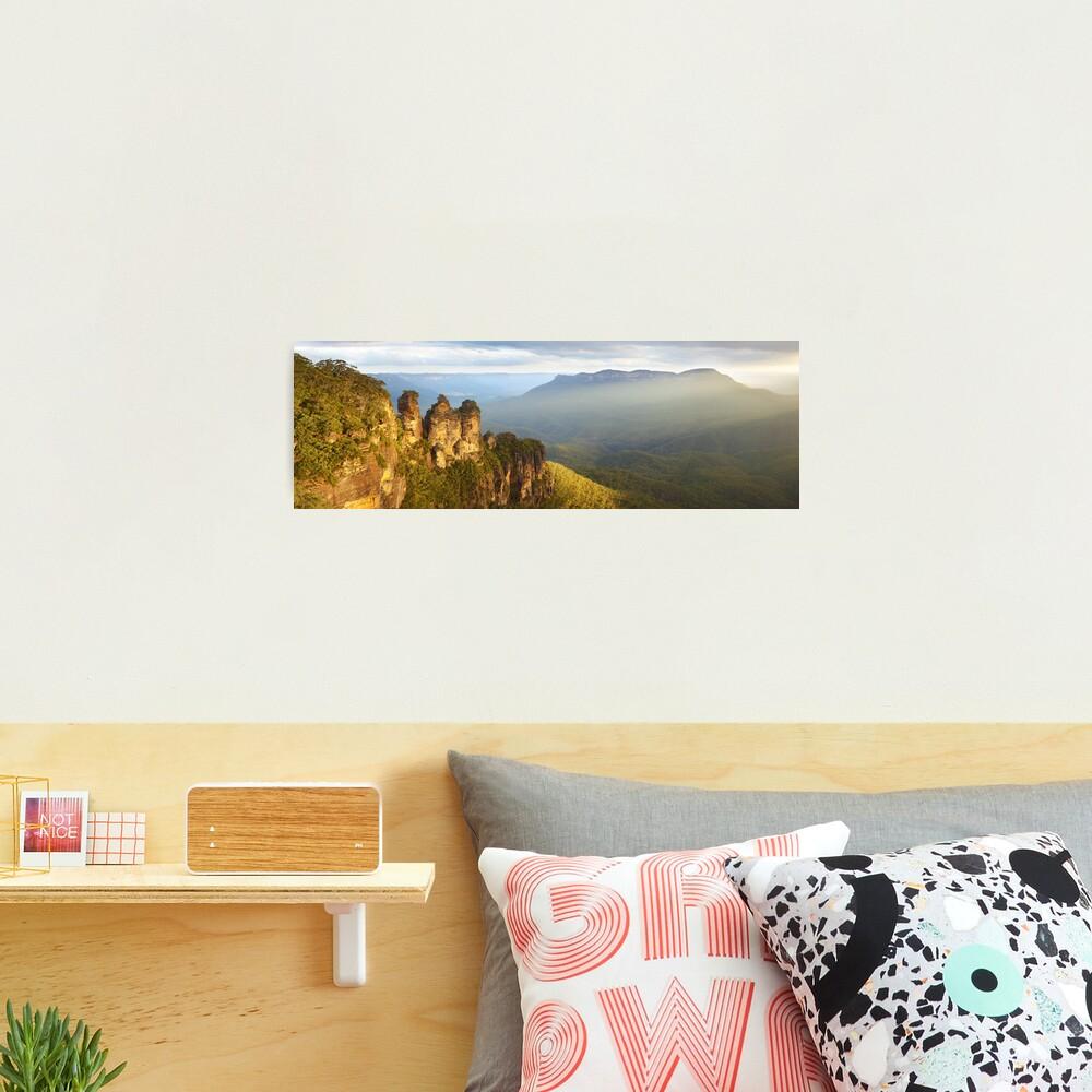Three Sisters Sunset, Blue Mountains, NSW, Australia Photographic Print