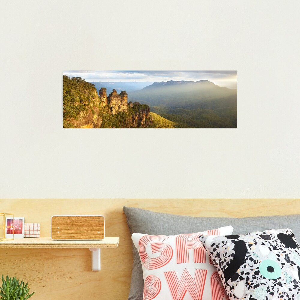 Three Sisters Sunset, Blue Mountains, NSW, Australia Photographic Print