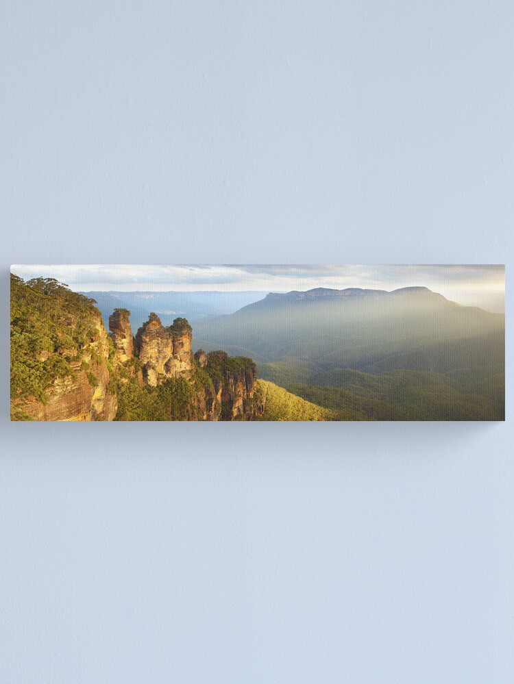 Alternate view of Three Sisters Sunset, Blue Mountains, NSW, Australia Canvas Print