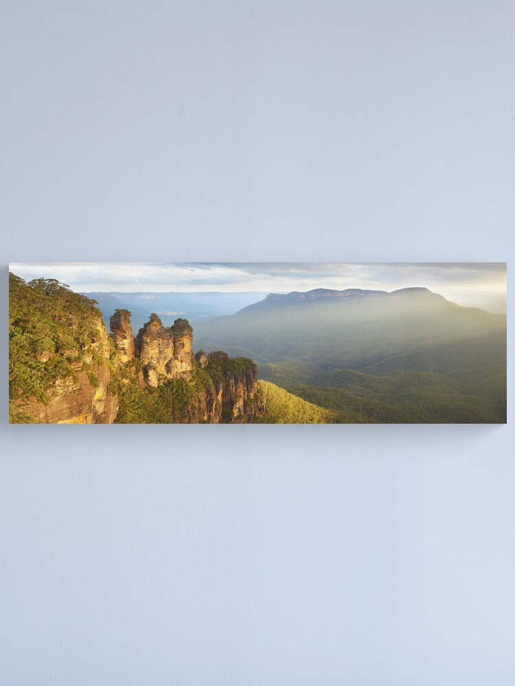 Alternate view of Three Sisters Sunset, Blue Mountains, NSW, Australia Canvas Print