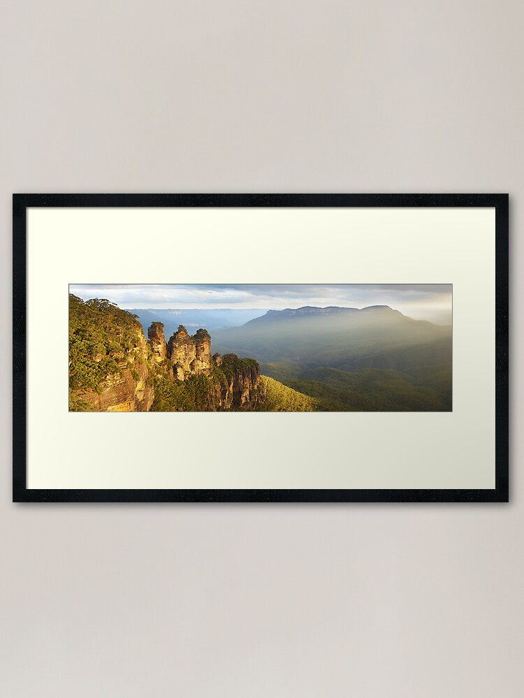 Alternate view of Three Sisters Sunset, Blue Mountains, NSW, Australia Framed Art Print