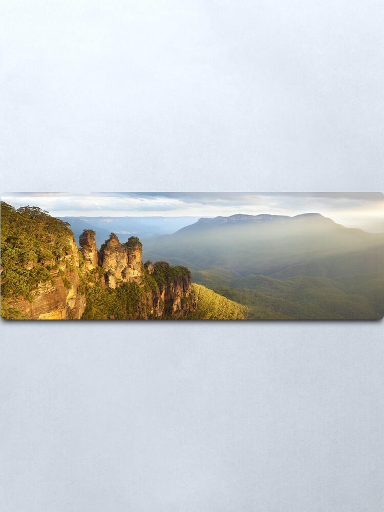 Alternate view of Three Sisters Sunset, Blue Mountains, NSW, Australia Metal Print