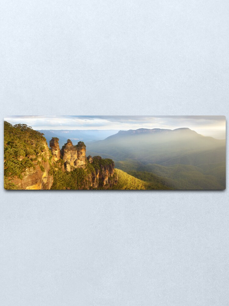 Alternate view of Three Sisters Sunset, Blue Mountains, NSW, Australia Metal Print