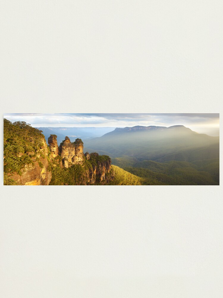 Alternate view of Three Sisters Sunset, Blue Mountains, NSW, Australia Photographic Print