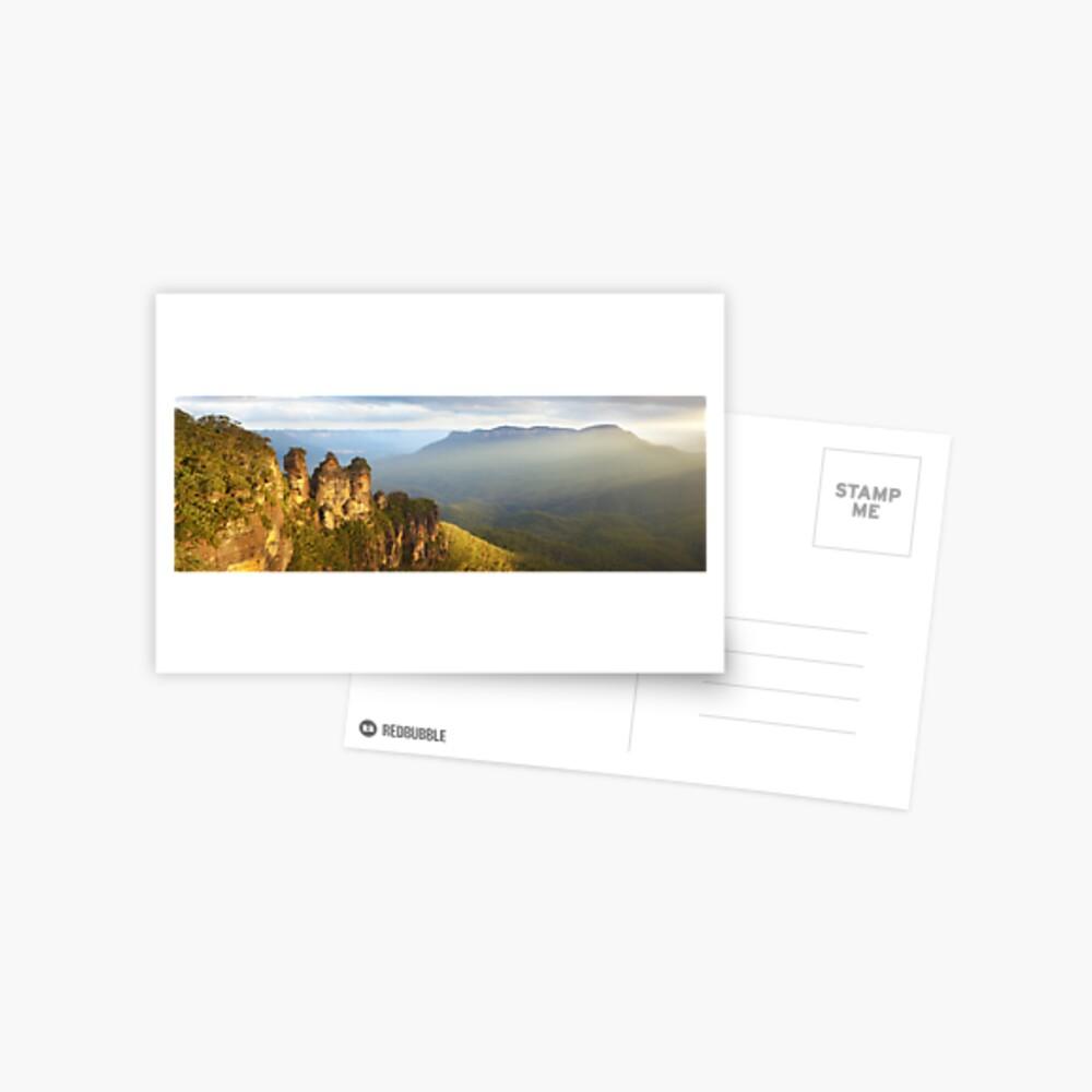 Three Sisters Sunset, Blue Mountains, NSW, Australia Postcard