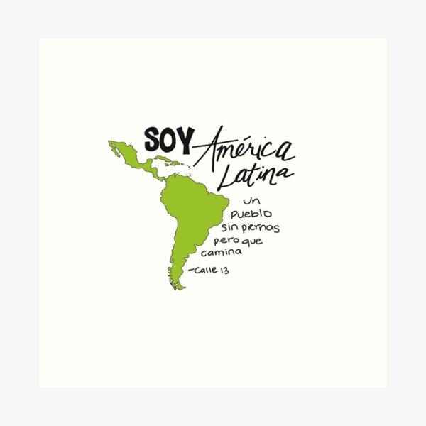 Soy América Latina ... Calle 13 Lámina artística