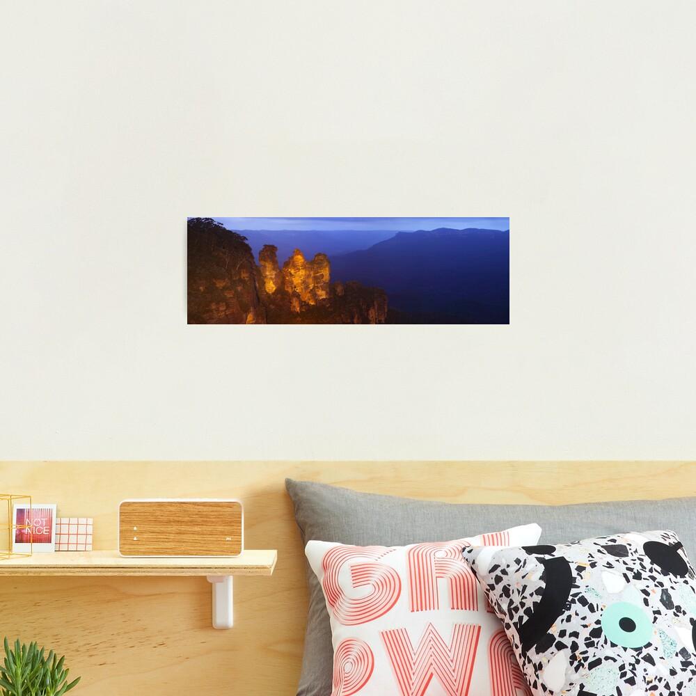 Three Sisters Dusk, Blue Mountains, Australia Photographic Print