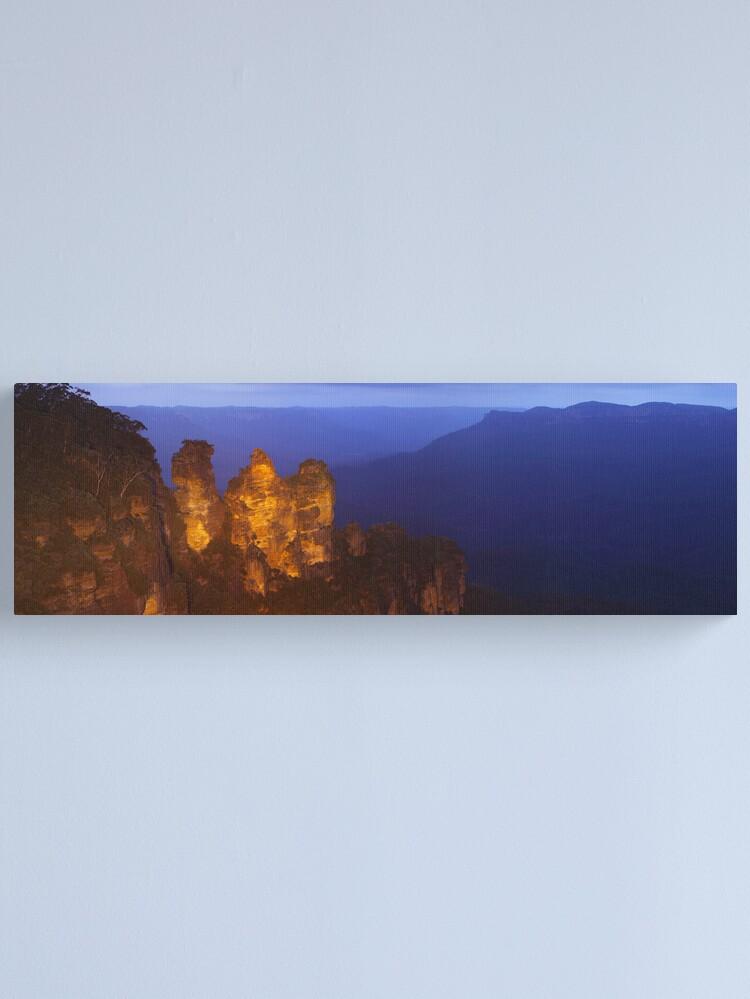 Alternate view of Three Sisters Dusk, Blue Mountains, Australia Canvas Print