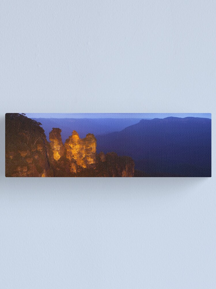 Alternate view of Three Sisters Dusk, Blue Mountains, Australia Canvas Print