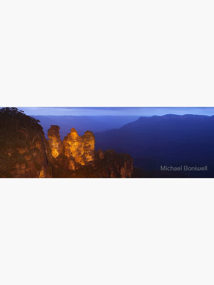 Three Sisters Dusk, Blue Mountains, Australia by Chockstone